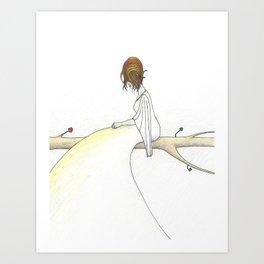 Recalibration (She Meditates) Art Print