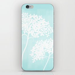 Queen Anne's Lace Blue iPhone Skin