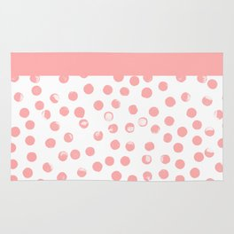 dots with stripe in soft peach Rug