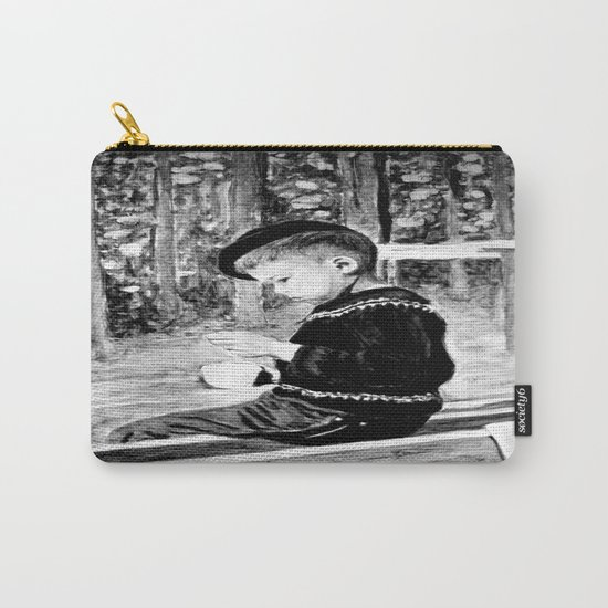 Little Boy With Coffee Cup Carry-All Pouch
