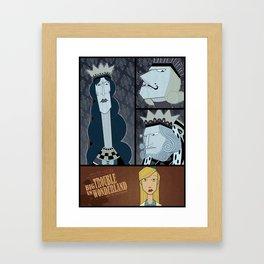 Big Trouble In Wonderland Framed Art Print