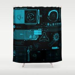 Mark 42 HUD Shower Curtain