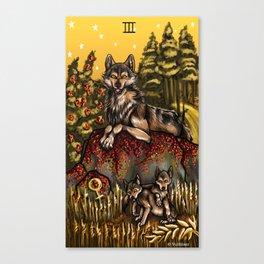 Wolf Tarot: Empress Canvas Print