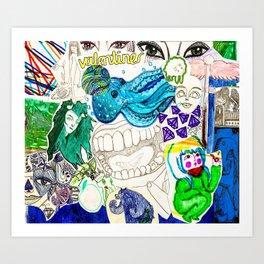 Collage 20 Art Print
