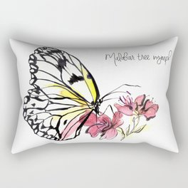 Malabar  Tree Nymph Butterfly Rectangular Pillow