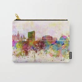Geneva skyline in watercolor background Carry-All Pouch