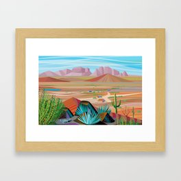 La Pimeria, West Phoenix Framed Art Print