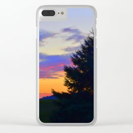 West Brome Sunset Landscape Clear iPhone Case