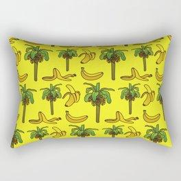 Banana print, Banana decor, banana tree, banana tree print, home decor Rectangular Pillow