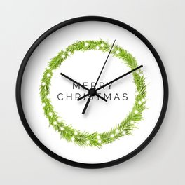 Minimalist Christmas Wall Clock