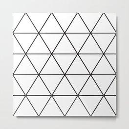 Triangle Geometric Pattern Metal Print