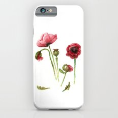 Red Poppies - Botanical Art - watercolor Slim Case iPhone 6s