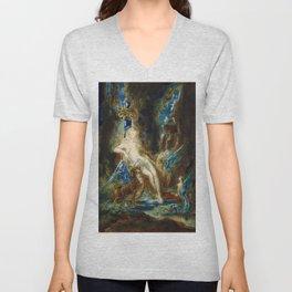 """Gustave Moreau """"La fée aux Griffons (The Fairy with Griffons)"""" Unisex V-Neck"""