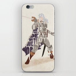 The White Falcon iPhone Skin