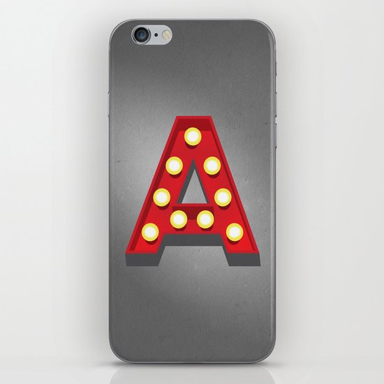 A - Theatre Marquee Letter iPhone & iPod Skin