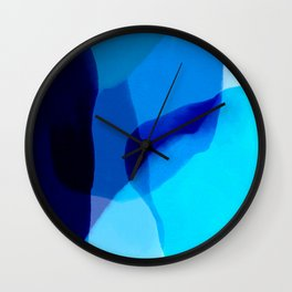 blue winter ice now abstract watercolor Wall Clock