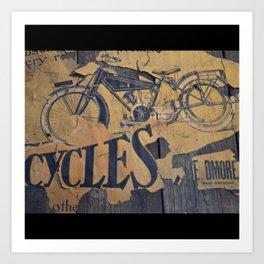 Cycles Vintage Poster Art Print