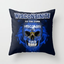To The Core Collection: Wisconsin Throw Pillow