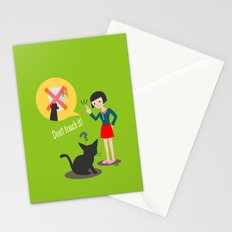 Don't touch it! Stationery Cards
