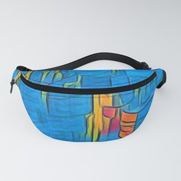 Colorful Artwork City Art Painting On Canvas Fanny Pack