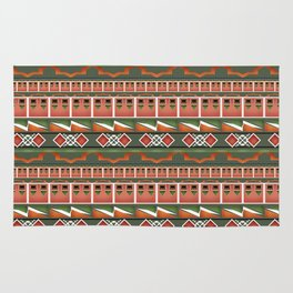 Colorful tribal ethnic ornament . Rug
