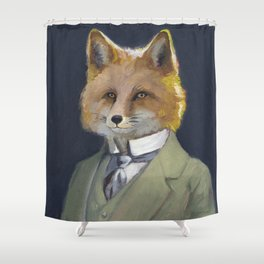 FOX FRIEND, by Frank-Joseph Shower Curtain