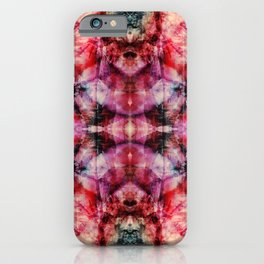 Colorful Abstract Batik Butterfly Rorschach Ink Blot Art Space Galaxy No6 iPhone Case