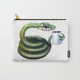 """""""Curled Up with Coffee"""" - Java Jungle collection Carry-All Pouch"""
