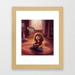 Little Bookworm Framed Art Print
