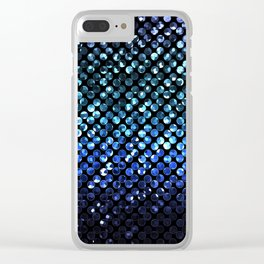 Crystal Bling Strass Blue G312 Clear iPhone Case