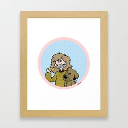 My dog and cheese and me Framed Art Print