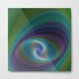 Elliptical Eye Metal Print