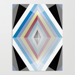 Muted tones geometric Poster