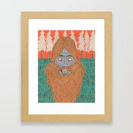 The Squatch Framed Art Print