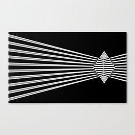 The edge bw Canvas Print