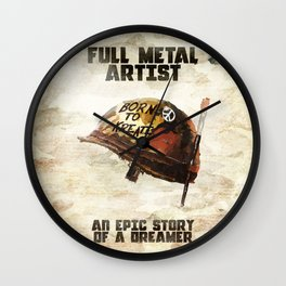 Full metal artist Wall Clock