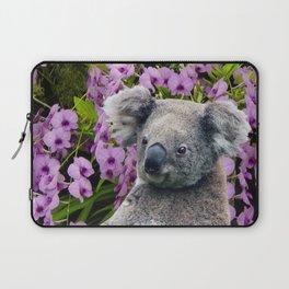 Koala and Orchids Laptop Sleeve