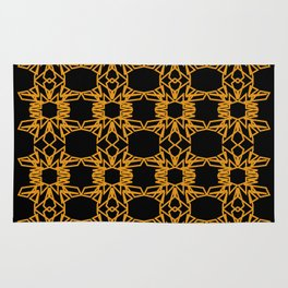 Luxury mandalas black gold Vint. Rug