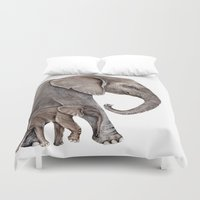 elephants Duvet Covers featuring Elephants by Goosi