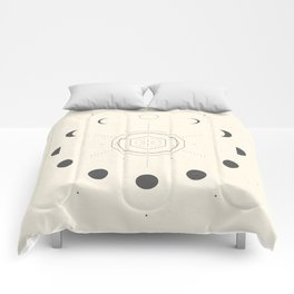 Moon Phases Light Comforters