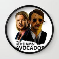 lawyer Wall Clocks featuring Daredevil by IremYorukoglu