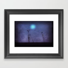 night dance Framed Art Print