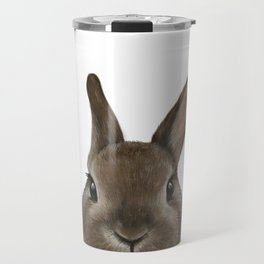 Netherland Dwarf rabbit illustration original painting print Travel Mug
