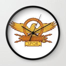 SPQR Roman Eagle Legion Standard Ancient Rome Wall Clock
