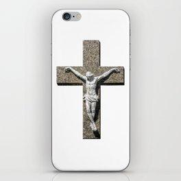 Jesuschrist on a Cross Sculpture iPhone Skin
