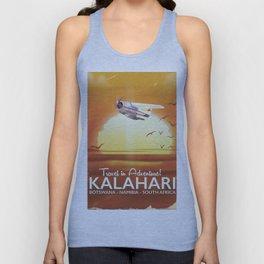 Kalahari Desert Adventure travel poster Unisex Tank Top