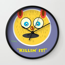 "Riley is ""killin it!"" Wall Clock"