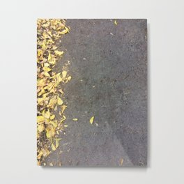 Autumn Color Leaves On Asphalt  #society6 #decor #buyart #artprint Metal Print