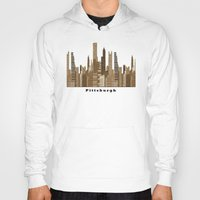 pittsburgh Hoodies featuring Pittsburgh skyline vintage by bri.buckley