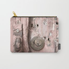 Pink Rusty Door Carry-All Pouch